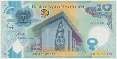 Papua Nová Guinea, 10 Kina 2010, plastová pamětní, P.40