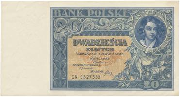 Polsko, 20 Zlotych 1931, BHK.PL6c