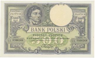 Polsko, 500 Zlotych 1919, BHK.PL13a