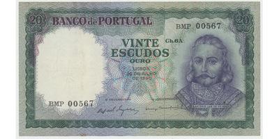 Portugalsko, 20 Escudos 1960, P.163