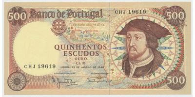 Portugalsko, 500 Escudos 1966, P.170a