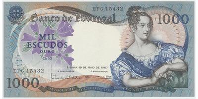 Portugalsko, 1000 Escudos 1967, P.172a