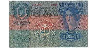 Rakousko - Uhersko, 20 K / 1913, I. vydání, Baj.RU6