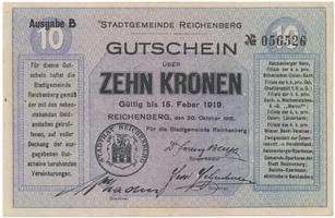 Reichenberg (Liberec) - město, 10 K  1918, HH.188.8.2a