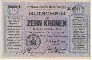 Reichenberg (Liberec) - město, 10 K  1918, HH.188.8.2b