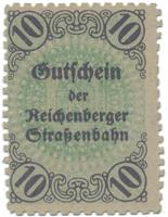 Reichenberg (Liberec) - Strassenbahn, 10 hal  b.d. (1920), HH.188.6.1