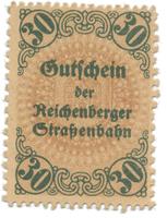Reichenberg (Liberec) - Strassenbahn, 30 hal  b.d. (1920), HH.188.6.2c