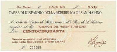 San Marino, 150 Lire 1976, P.S101