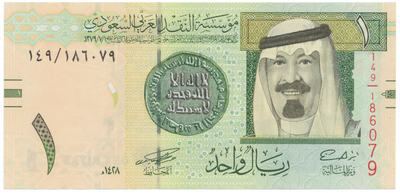 Saúdská Arábie, 1 Riyal 2007, P.31a