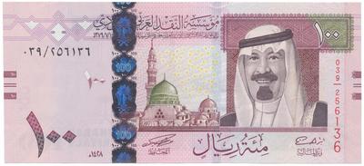 Saúdská Arábie, 100 Riyals 2007, P.36