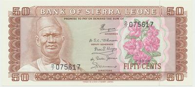 Sierra Leone, 50 Cents 1979, P.4c
