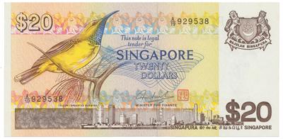 Singapur, 20 Dollars (1979), P.12