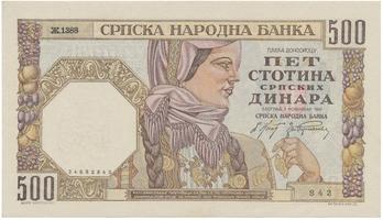 Srbsko, 500 Dinara 1941, P.27b