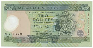 Šalamounovy ostrovy, 2 Dollars 2001, P.23