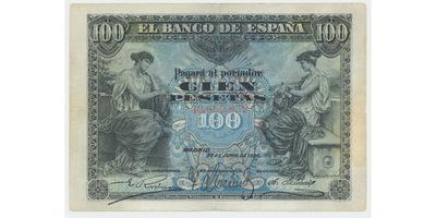 Španělsko, 100 Pesetas 1906, P.59a