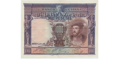 Španělsko, 1000 Pesetas 1925, P.70a