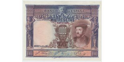 Španělsko, 1000 Pesetas 1925, P.70c