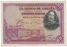 Španělsko, 50 Pesetas 1928, P.75b