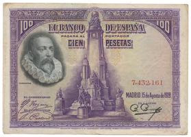 Španělsko, 100 Pesetas 1928, bez série, P.76