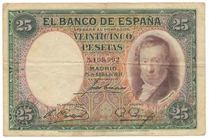 Španělsko, 25 Pesetas 1931, P.81