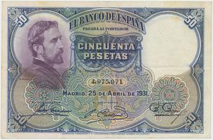Španělsko, 50 Pesetas 1931, P.82