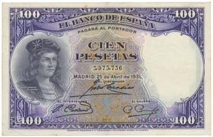 Španělsko, 100 Pesetas 1931, P.83