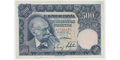 Španělsko, 500 Pesetas 1951, P.142