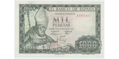 Španělsko, 1000 Pesetas 1965, P.151