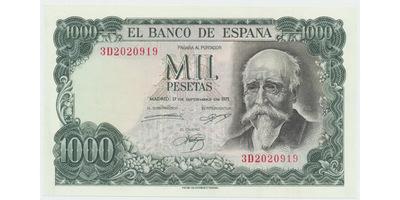 Španělsko, 1000 Peseta 1971, P.154