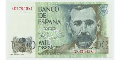 Španělsko, 1000 Pesetas 1979, P.158