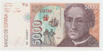 Španělsko, 5000 Pesetas 1992, P.165