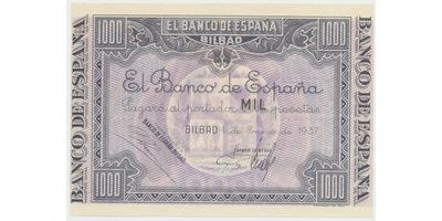 Španělsko, 1000 Pesetas 1937, Bilbao, P.S567