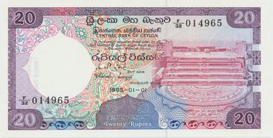 Srí Lanka, 20 Rupees 1985, P.93b
