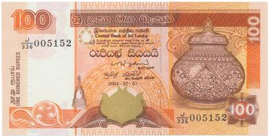 Srí Lanka, 100 Rupees 2004, P.118b