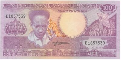 Surinam, 100 Gulden 1986, P.133a
