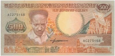 Surinam, 500 Gulden 1988, P.135b