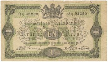 Švédsko, 1 Riksdaler 1873, P.A139c