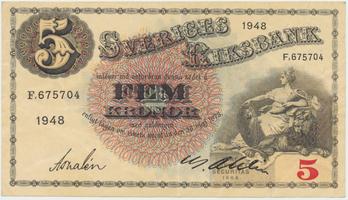 Švédsko, 5 Kronor 1948, P.33ae