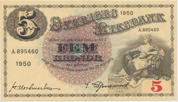 Švédsko, 5 Kronor 1950, P.33ag