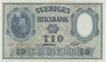 Švédsko, 10 Kronor 1947, P.40h