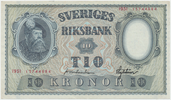 Švédsko, 10 Kronor 1951, P.40l