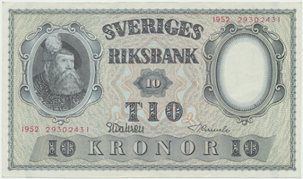 Švédsko, 10 Kronor 1952, P.40m