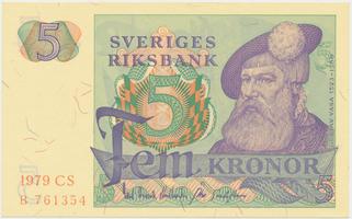 Švédsko, 5 Kronor 1979, P.51d