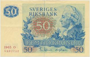 Švédsko, 50 Kronor 1965, P.53a