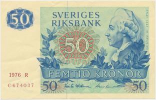 Švédsko, 50 Kronor 1976, P.53b