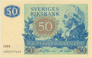 Švédsko, 50 Kronor 1984, P.53d