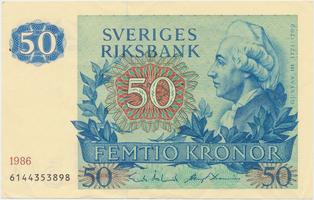Švédsko, 50 Kronor 1986, P.53d