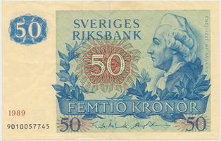 Švédsko, 50 Kronor 1989, P.53d