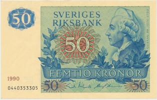 Švédsko, 50 Kronor 1990, P.53d