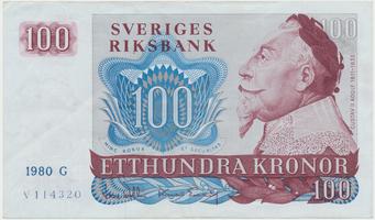 Švédsko, 100 Kronor 1980, P.54c